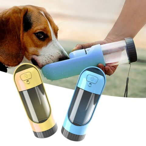 Portable Pet Dog Water Bottle with Activated Carbon Filter